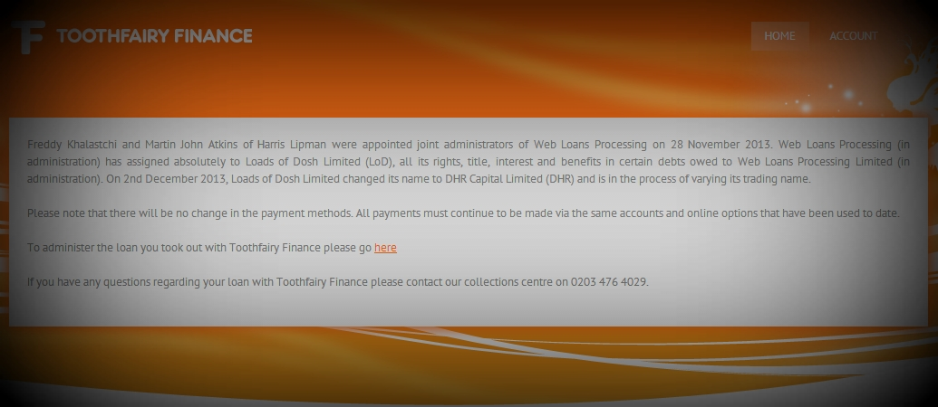 Web Loans Processing Enters Administration